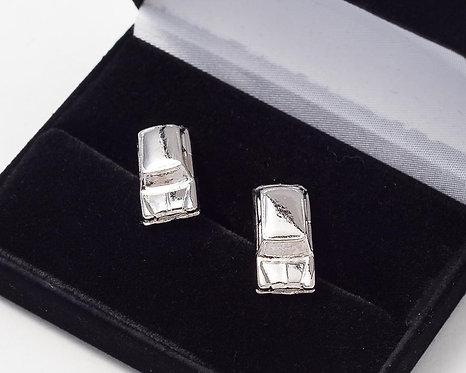 Mini Cufflinks Nickel Plated