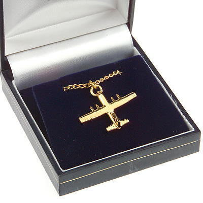 C130 Hercules 'Fat Albert' Pendant Gold Plated