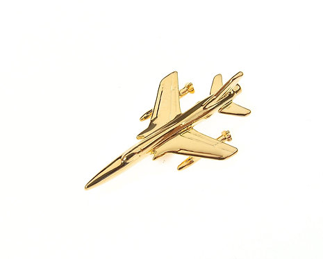 F105 Thunderchief Gold Plated Tie / Lapel Pin