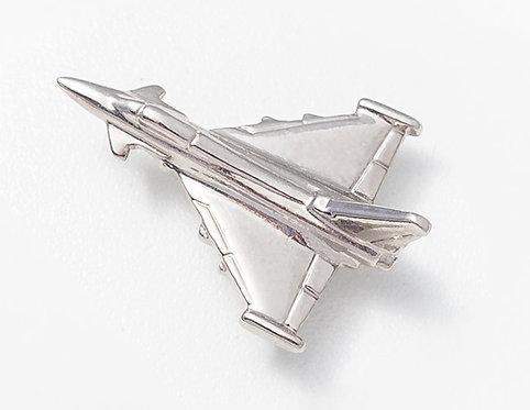 Eurofighter Typhoon Nickel Plated Tie / Lapel Pin