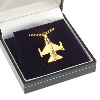 F16 Fighting Falcon Pendant Gold Plated