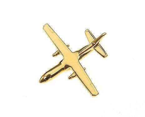 Antonov An140 Gold Plated Tie / Lapel Pin