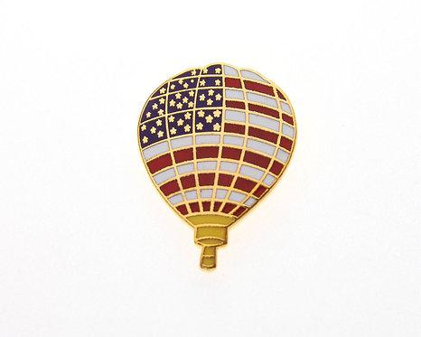 Stars & Stripes Balloon Tie / Lapel Pin