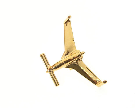 Cosy / Easy Speed Gold Plated Tie / Lapel Pin