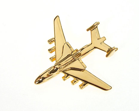 Antonov An225 Shuttle 'Buran' Gold Plated Tie / Lapel Pin