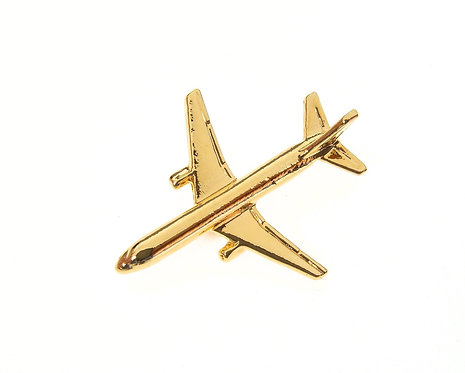 Boeing 757 Gold Plated Tie / Lapel Pin