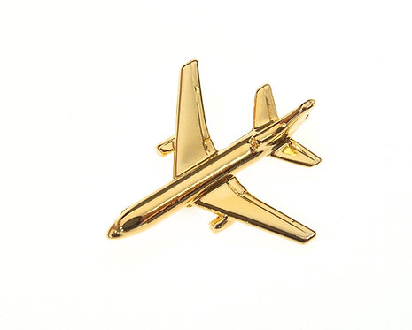 L10-11 Tristar Gold Plated Tie / Lapel Pin
