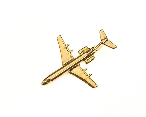 Fokker F100 Gold Plated Tie / Lapel Pin