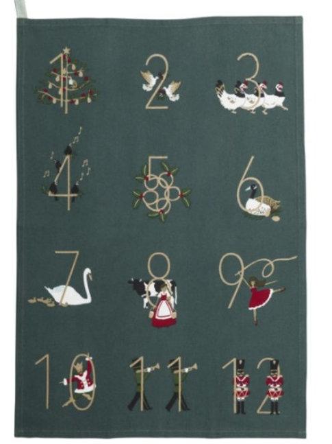 Sophie Allport 12 Days of Christmas Tea Towel