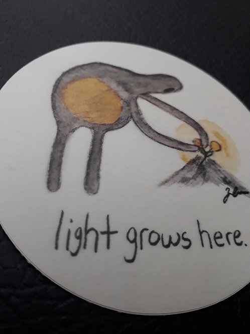 Light Grows Here Stickers