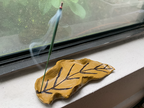 Autumn Leaf Incense Holder