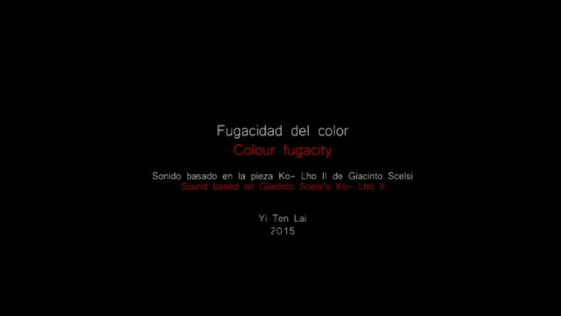 On the fugazity of colour | Scelci's winds