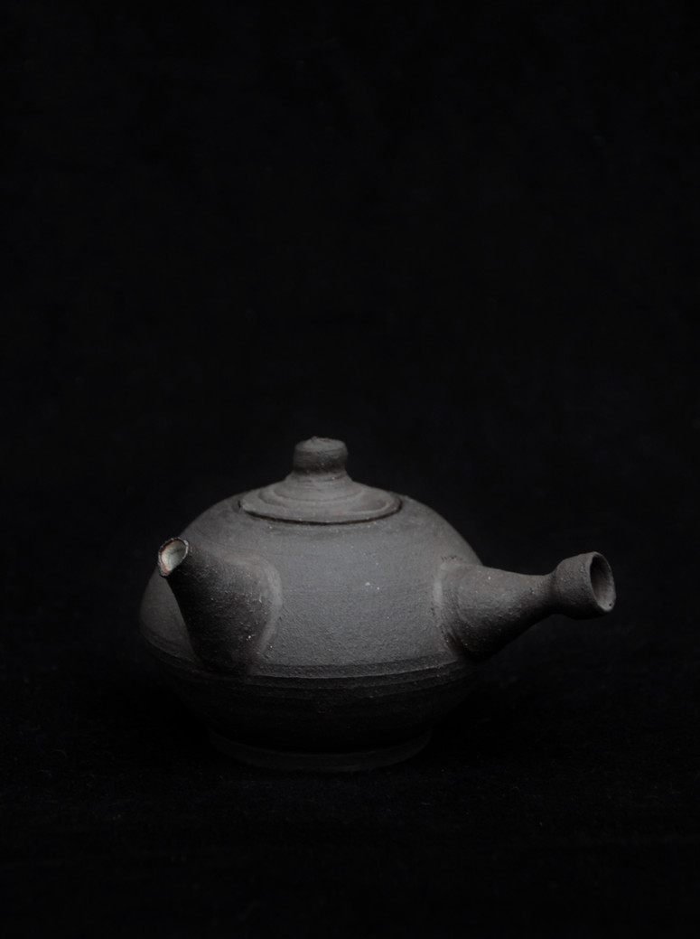 Black bird teapot