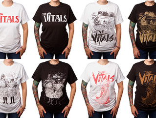 THE VITALS T-SHIRTS AVAILABLE AT LIVE SHOWS