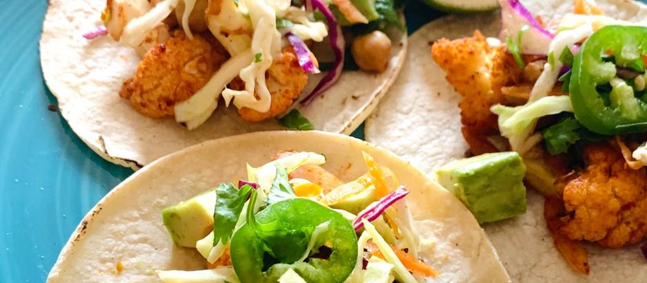 Rethink Taco Tuesday                        Beer & Lime Roasted Cauliflower Tacos