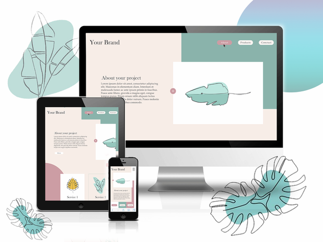 mockup web design
