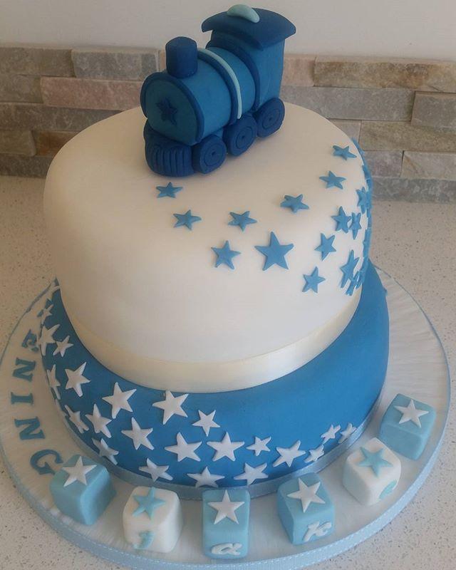 Starlight express Christening cake