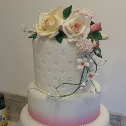 Sneak preview of a wedding cake in the making...hope you like it