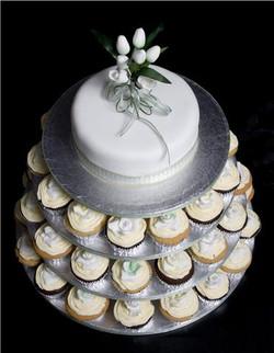 Cupcake Wedding cake #wedding cake