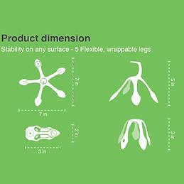 Gekkopod Product Dimension