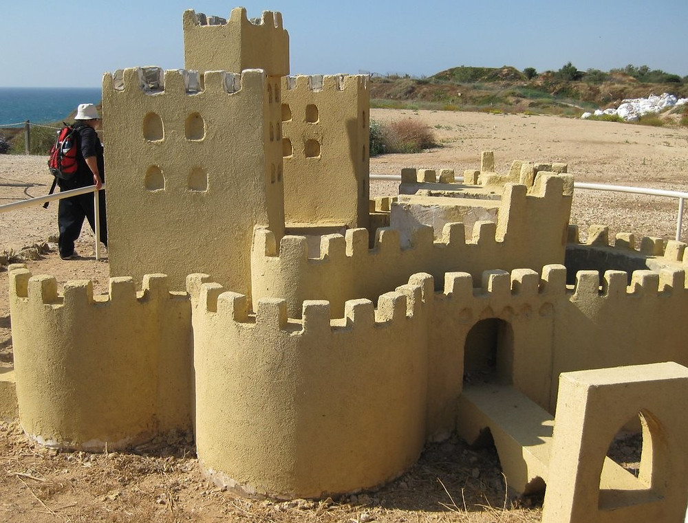 A reconstruction of the Crusader Fortress at its best