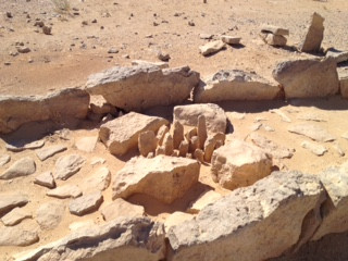 The 'Holy of Holies' made from uncut stones and in the center are 17 standing stones representing gods