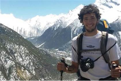 Or Asraf in one of the last photos he sent home from Nepal.