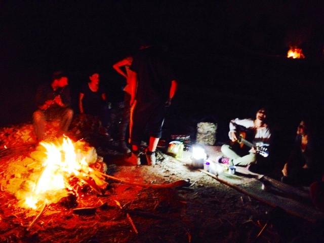 A kumzitz, (bonfire) is a typical Israeli pastime