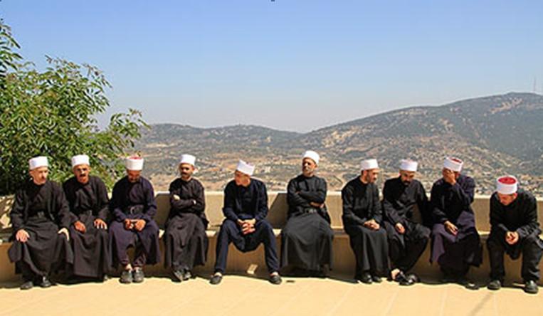 Druze men in traditional dress