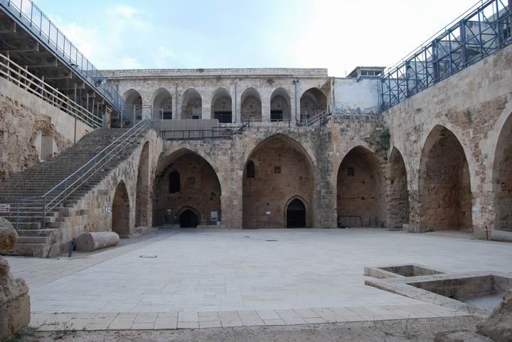 The Knights Hospitaller citadel courtyard sits today as it did 800 years ago