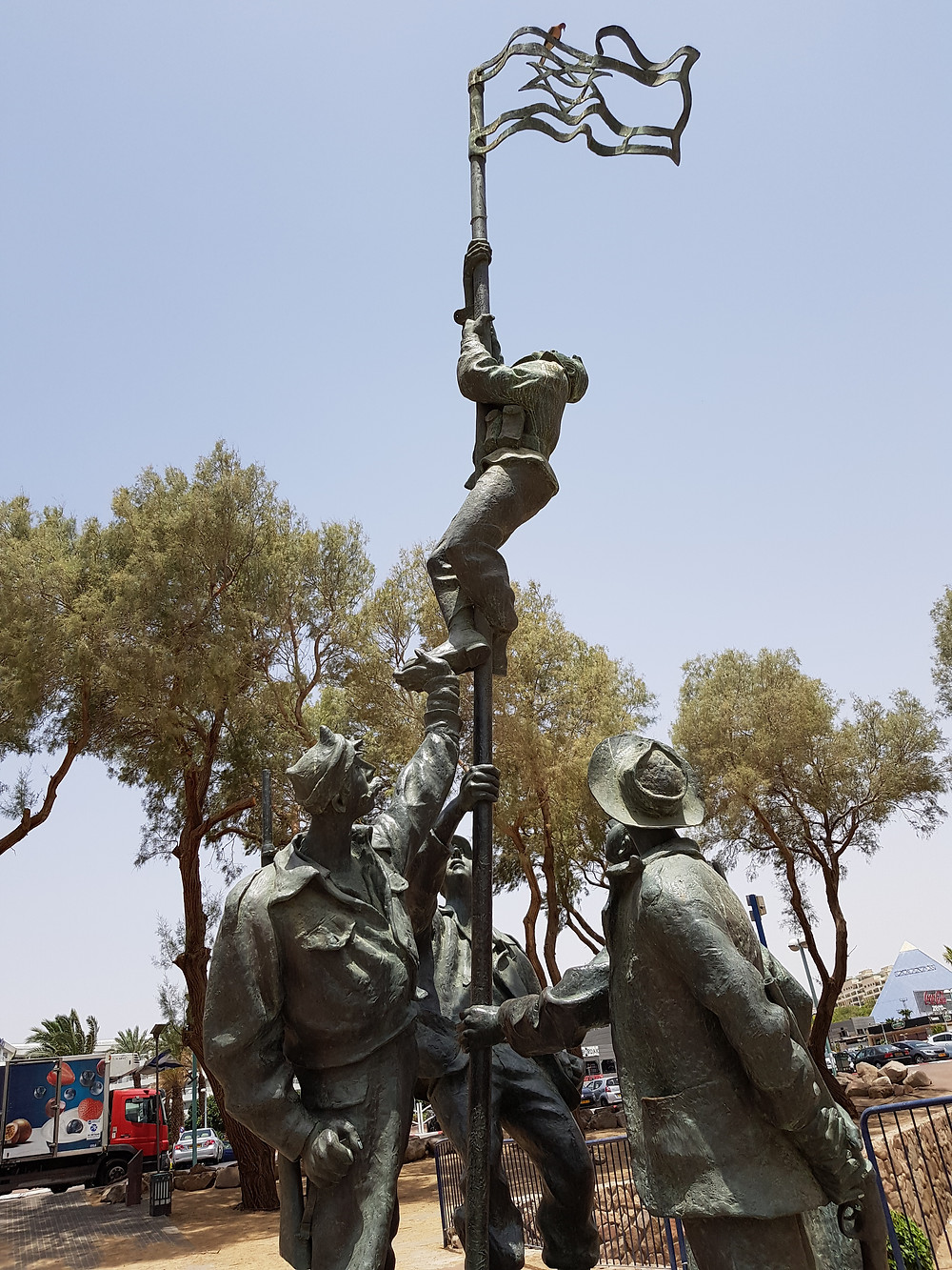 Commemorating the hoisting of the Israeli flag in March 1949