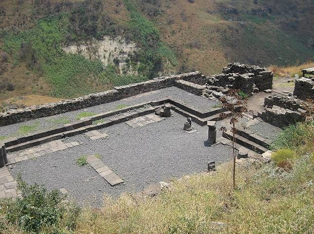 The ancient synagogue at Gamla, one of the oldest in the world.