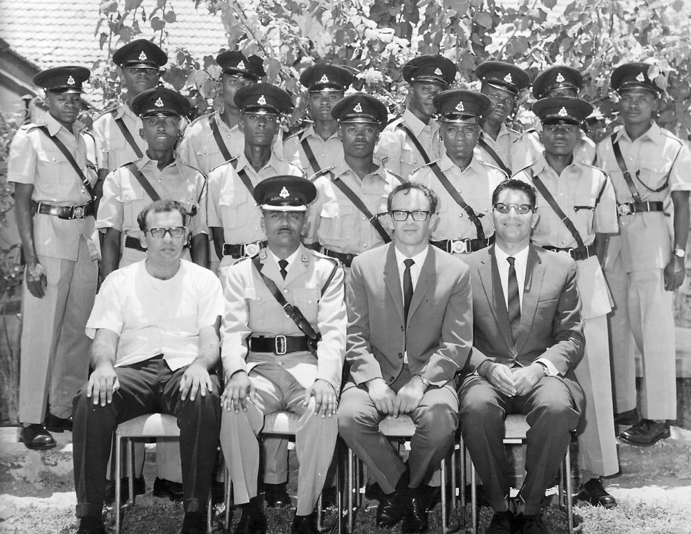 My father,  Zvi Harrel (first row, second from the right )  with his class of graduates of the Tanzanian Police Academy