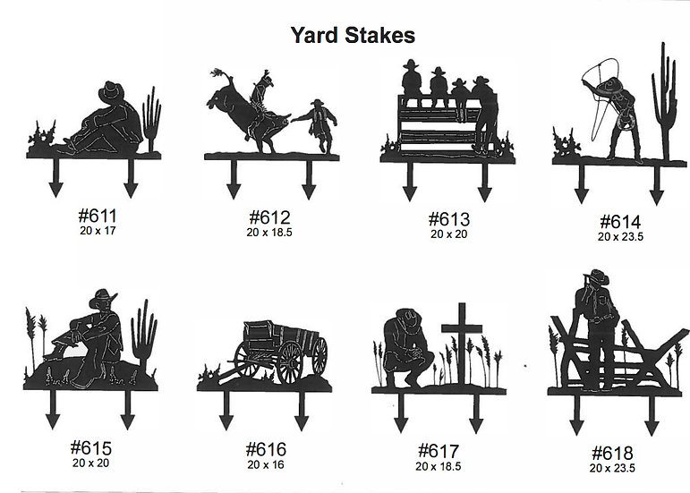 Cowboy Yard Stakes