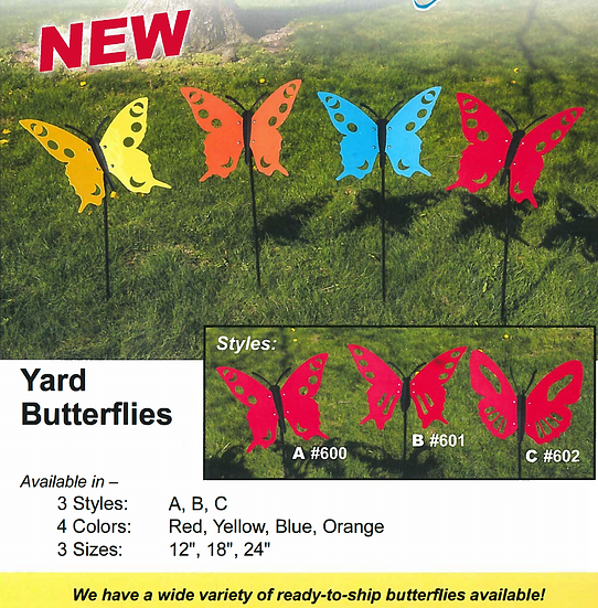 Butterfly Yard Stakes
