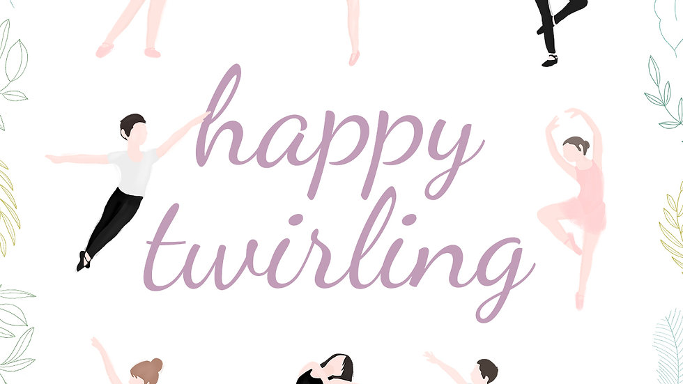 """""""Happy Twirling"""" Poster"""