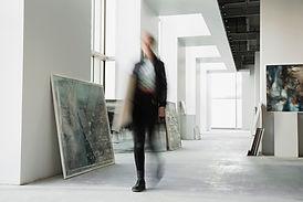 Gehen Sie in der Galerie