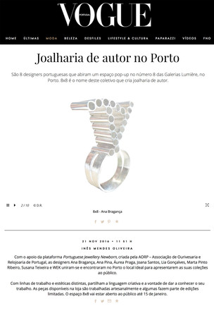 """Joalharia de Autor no Porto"", Vogue Portugal"