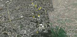 Map of Tirana attractions Tirane