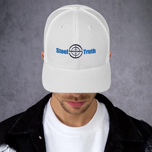 'White Hat' Trucker Cap Logo New