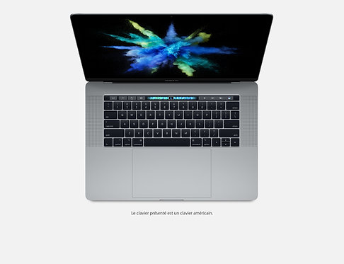 "Macbook Pro 15"" avec Touch Bar et Touch ID - Quasi Neuf"