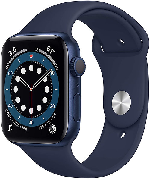 Apple Watch Serie 6 Boîtier en aluminium bleu, Bracelet Sport 44mm GPS - NEUF