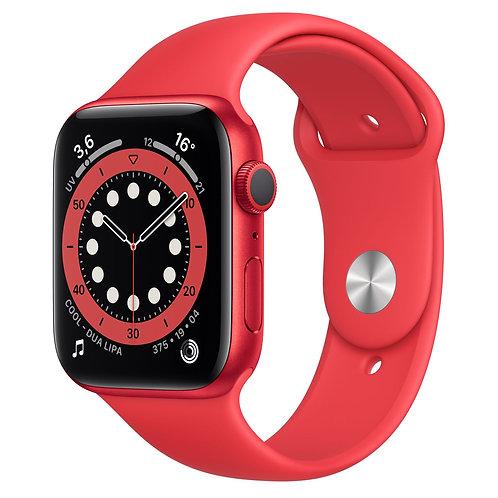 Apple Watch Serie 6 Boîtier en aluminium (PRODUCT)RED, Bracelet Sport 44mm GPS