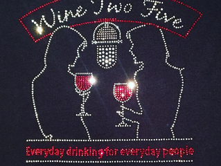 "Say ""CHEERS!"" to Custom Rhinestone Apparel"