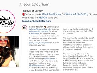 🐂 Hey, that's me! Durham's #WomenCrushingItEveryday for #WomensHistoryMonth