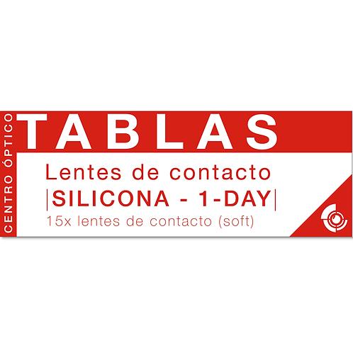 LENTES DE CONTACTO DE SILICONA DIARIAS (15 UNIDADES)