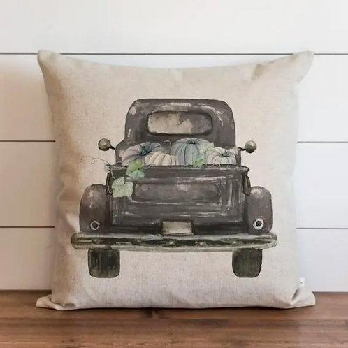"""Pumpkin Truck Style 2 Pillow - 18"""" x 18"""""""