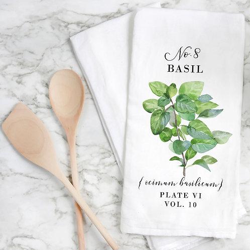 Basil Botanical Tea Towel.