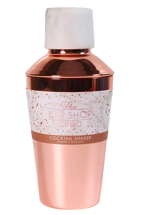 Cocktail Shaker - Resin White & Rose Gold