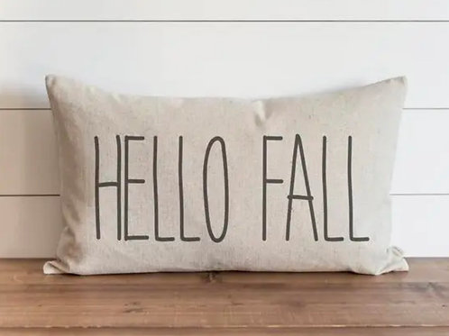 "HELLO FALL PILLOW - 16"" x 26"""